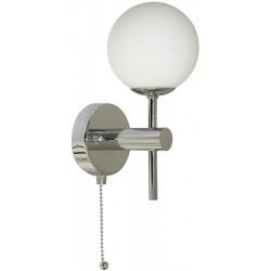 Applique globe Salle De Bain IP44 avec inter à tirette G9 20W maxi Searchlight 4337-1