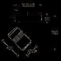 Projecteur Delta  3000lm - 3000K - 42°