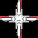 Jonction en croix pour rail