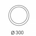 Plafonnier Hublot 1100lm - 3000K - 160°