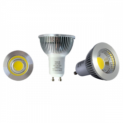 Ampoule led GU10 6W - 3000K - 80° dimmable