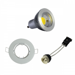 Kit spot led GU10 6W dimmable
