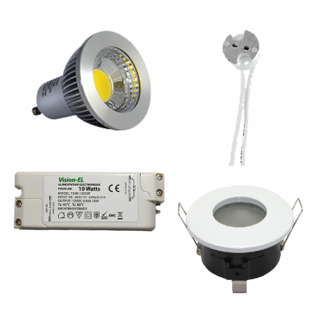 Kit spot led GU5.3 6W dimmable