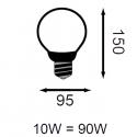 Ampoule LED Globe - E27 - 15W - 270°
