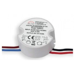 Transformateur convertisseur LED 10W/12V DC - CV3000010