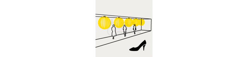 Eclairage magasin de chaussures : Eclairage général
