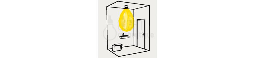 Eclairage Arrière boutique et locaux techniques : Eclairage toilettes