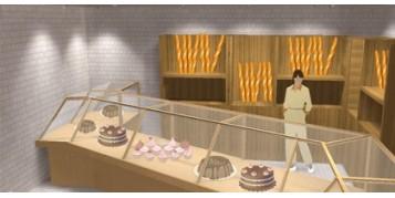 Exemple d'implantation de luminaires dans une boulangerie